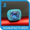 wholesale blue rhinestone unique rings cheap