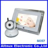 "2.4G Wireless Two-Way Baby Monitor 7"" LCD Night Version Camera Security System SC57"
