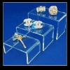 custom Clear acrylic jewelry display riser wholesale