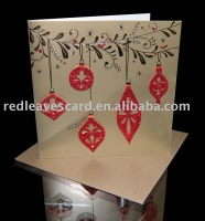 3D Gliter Ball Christmas handmade Card