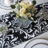 Flocking taffeta table runner&Table linen