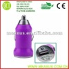 Colorful usb car charger(plastic cable duct)