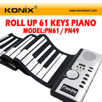 61 Keys Soft Digital Roll-Up Folding MIDI Keyboard Piano Electronic Kids Toys for Christmas Gift