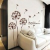 Removable wall decoration stickers of wind dandelion