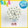 wholesale shamballa beads pave beads crystal rhinestone+usa clay ball environment friendly
