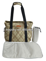 Jacquard diaper bag with changing pad