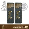 #DK30124 Leather fabric 2 pcs Dakar Licensed seat belt shoulder pads
