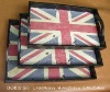 2010 new design wooden flag square tray