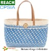 Colorful Tote Gloss Straw Beach Bag