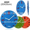 Double-Sided Felt Wall Clocks in Bold Color