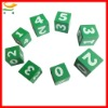 custom design wooden dice set