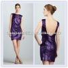 Low-Back Sequined Dress Elegant Cocktail Dress (20746#)