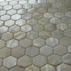 Hexagon Natural Shell Mosaic on Mesh for Indoor decoration