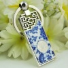 Porcelain key chain with Confucius photo as teacher gift