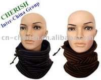 double layeracrylic knitted neck warmer