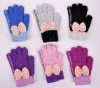 Glove for touch screen iphone woolen glove for women