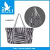 2012 zipper tote gift promotional bag lady shoulder bag canvas handbag with stripe color