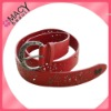 2012 new design leather belt with tattoo design BP-9005