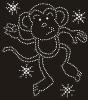 monkey hot fix rhinestone transfer motif