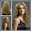 lady's wig,100% Kanekalon Fiber Synthetic Wig#ZL85-27T613