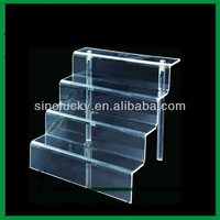 clear ladder acrylic displaying stand
