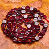 XG-OLK0165 Charming Natural Garnet Gemstone Oval Beads