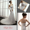 Strapless Beaded Mermaid Train Lace Wedding Dress FB-2230