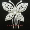 2013 wedding jewelry, butterfly shaped alloy headwear with crystal stones