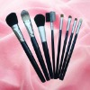 QXCBR-1022 8pcs hot selling blue cosmetic brush set