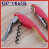(OP-0065R) Fashion Red Parrot Shaped Wine Corkscrew Opener