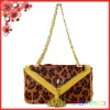 2012 new Leopard Horsehair real Leather ladies shoulder Bag with tassel women evening chain bag
