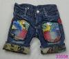 2012 Fashion denim child shorts jeans