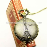 Quartz movement antique hunter case pocket watch W64