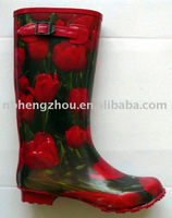 2012 new style buckle hot girls rain boots
