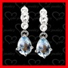 fashion jewelry manufacturer blue moonstone silver earrings
