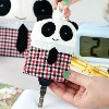 Panda draw type plush key chain bag