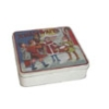 Square Christmas tin box