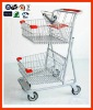 two-tiers double baskets shopping cart