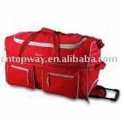 Lady PVC Trolley Travel Handbag