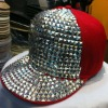 Hot sell rivet cotton flat brim snapback hat cap in store