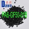 nylon pa6 pellets with 50% glass fiber reinforced Black Equal to Zytel 73G50HSLA BK416