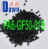nylon pa6 pellets with 50% glass fiber reinforced Black Equal to Zytel 73G50HSLA BK416