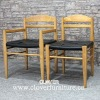vincent v.g. modern wooden dining chair leather