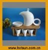 13pcs White Durable Porcelain Tea set 4H2115