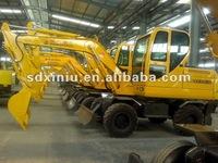 Hydraulic wheel excavator china