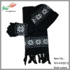 wholesale fashion knitted scarf hat and glove sets