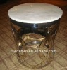 marble top and stainless steel base AZ-0466B side table