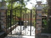 2011 Top-selling yard hand forged wrought iron gate