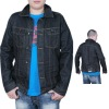 latest fashion men denim jacket with good washing effects