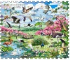 kids floor mats with Birds world printing